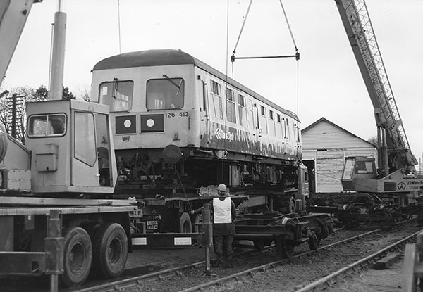 51043 being loaded for road move to Brechin